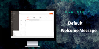feature magento 2 welcome message