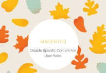 how to disable certain content for specific user roles Magento 2