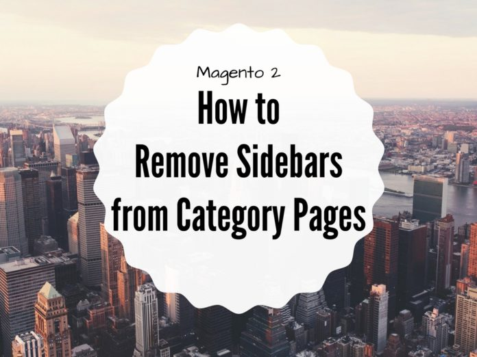 remove sidebars magento 2 category pages