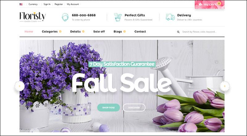 ves floristy magento 2 theme marketplace