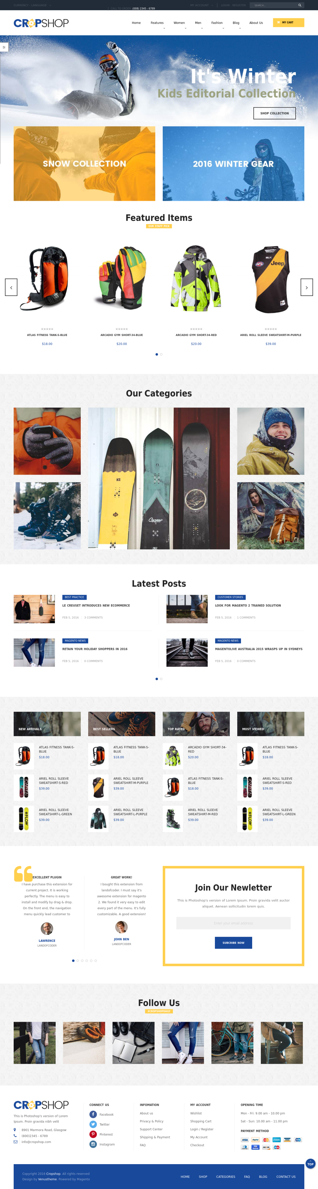 Magento 2 Bootstrap themes