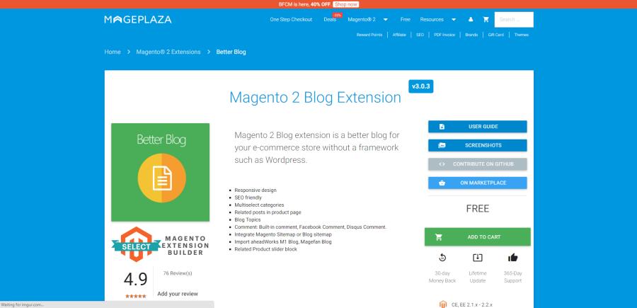 mageplaza blog extension