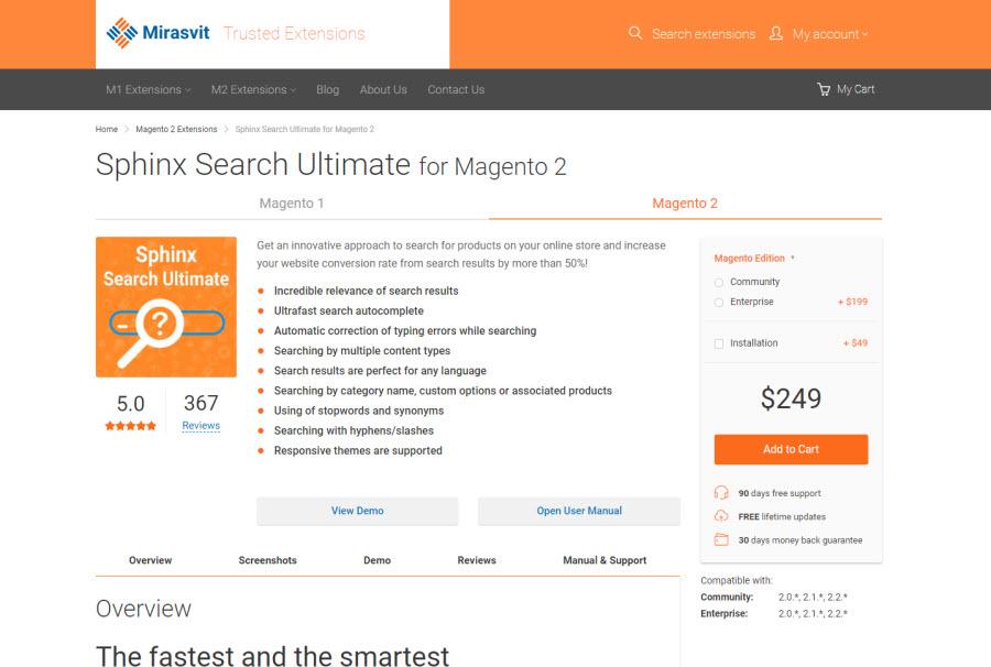 2 magento 2 auto search extension