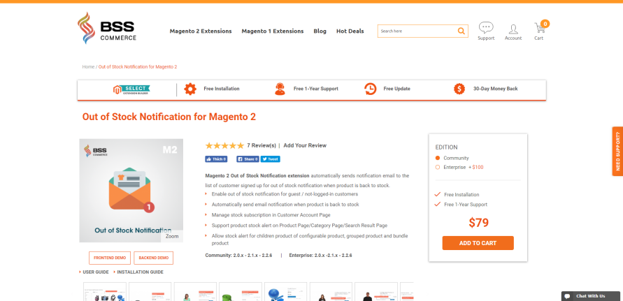 Magento 2 Out of Stock Notification Extension byBsscommerce