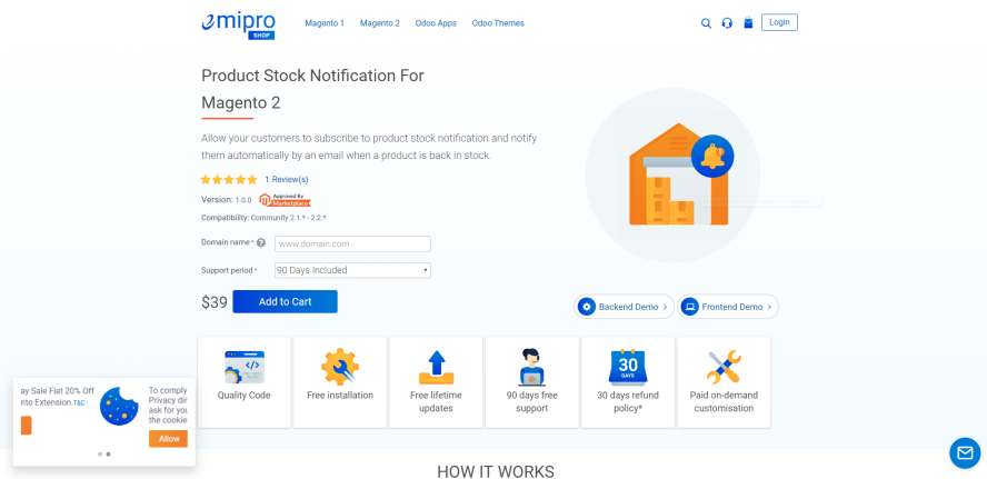 Product Stock Notification for Magento 2 byEmiprotechnologie