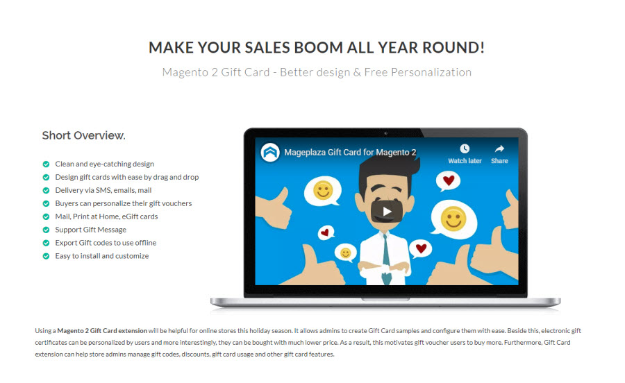 2. 1. Magento 2 Gift Card extensions by mageplaza