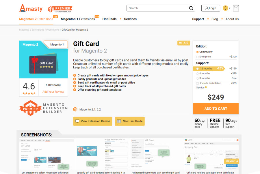 3. 2. 1. Magento 2 Gift Card extensions by amasty