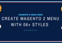 create magento 2 menu with 06 style