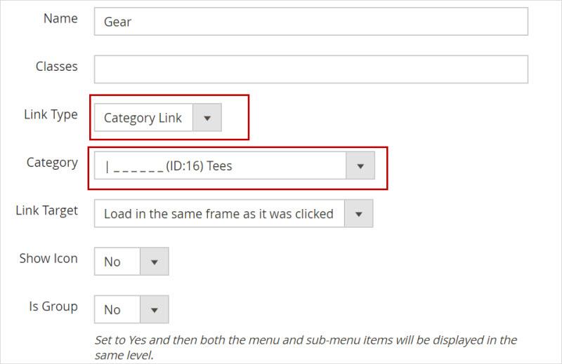 create magento2 dynamic menu category listing
