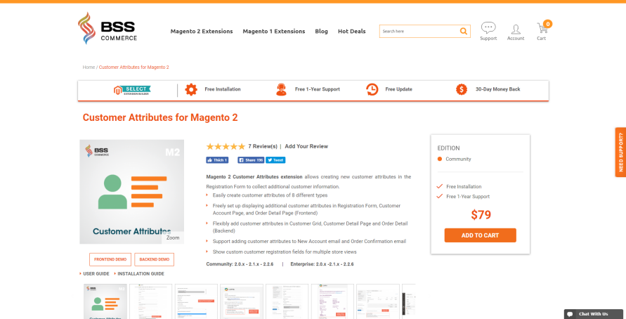 bss magento 2 customer attributes
