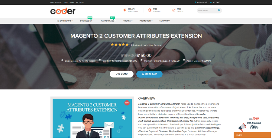magento 2 customer attribute extension
