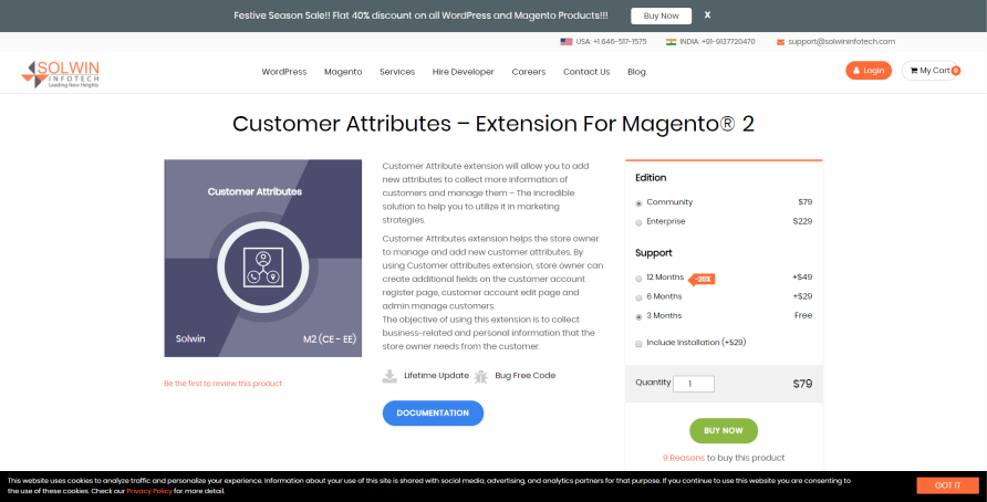 magento 2 customer attribute module