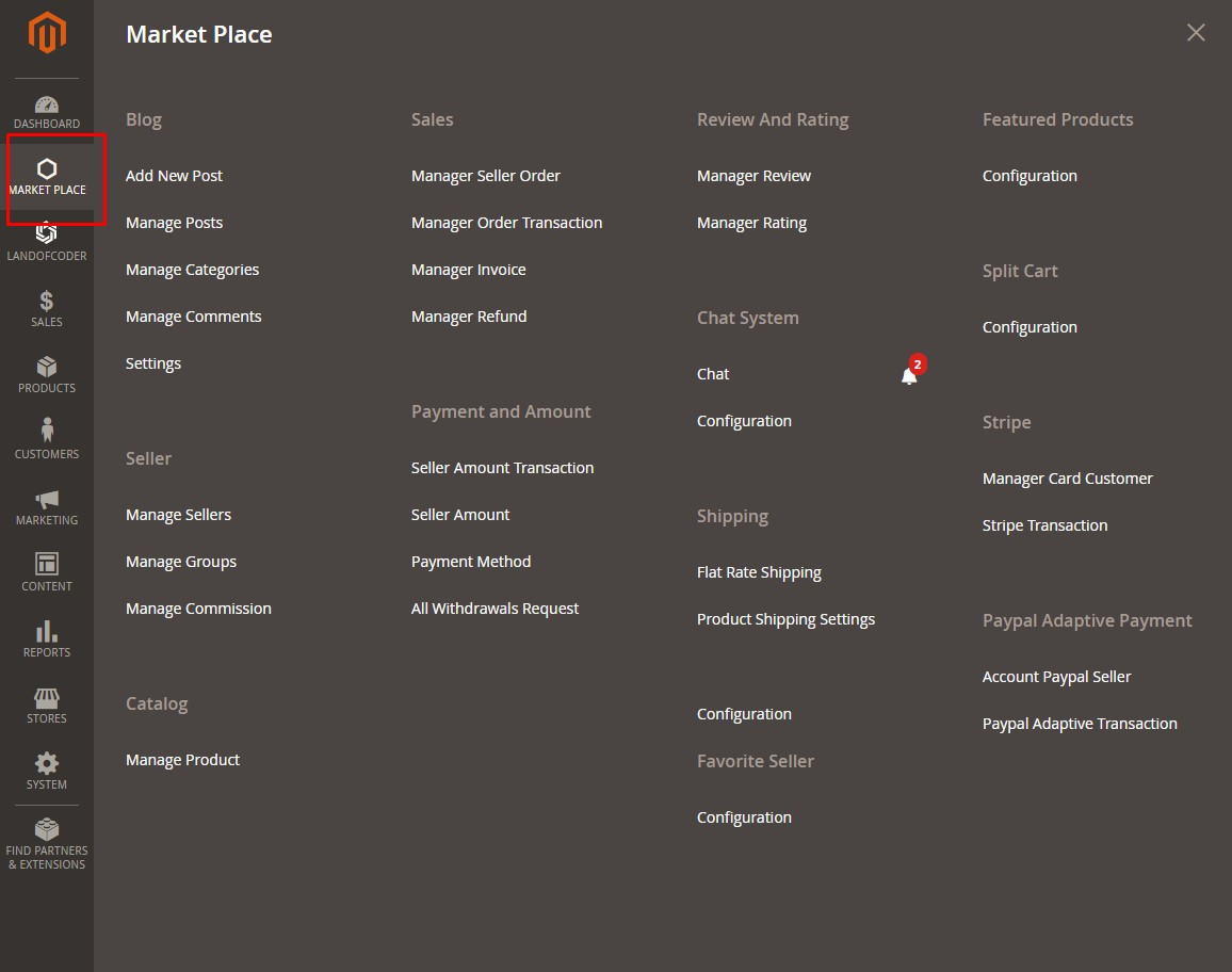 magento 2 additional marketplace plugin admin