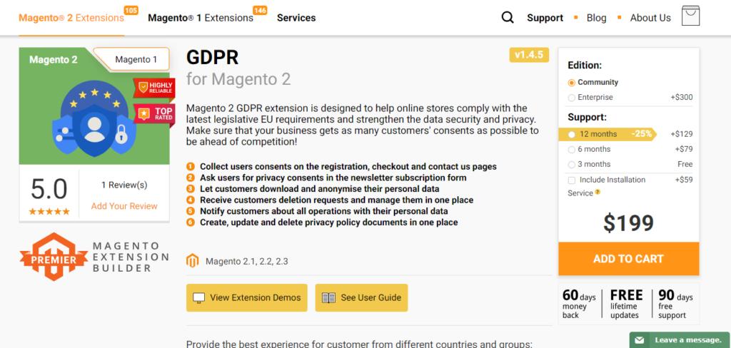 5+ Best Magento 2 3 GDPR Extension Free & Premium