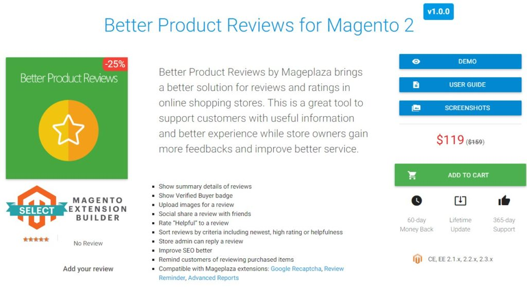 better product reviews for magento 2 ecommerce store