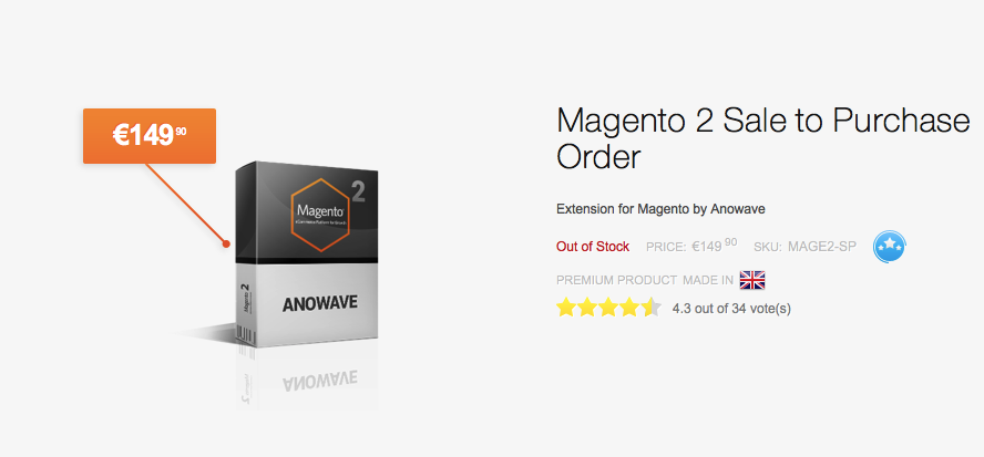 magento 2 sale to purchase order