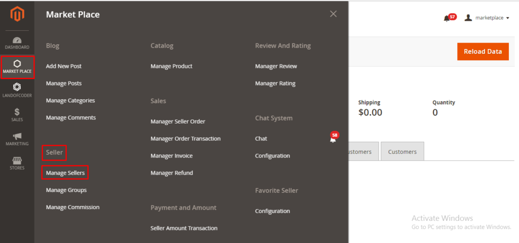 manage sellers with Magento 2 Multi vendor marketplace