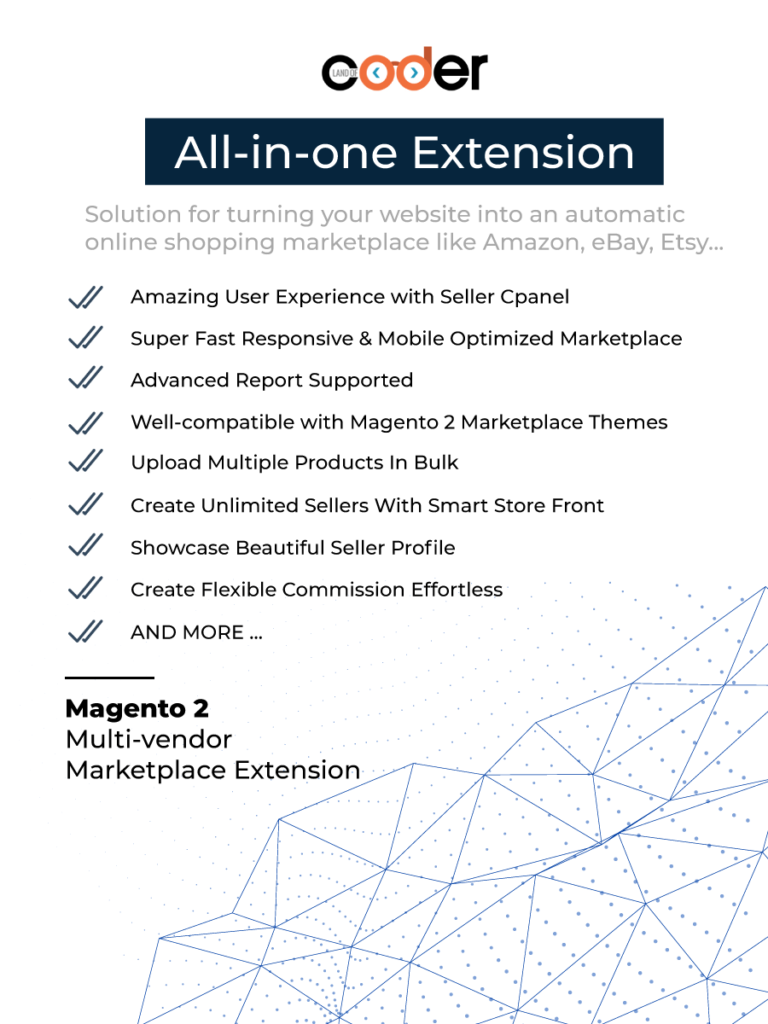 Magento 2 marketplace extension turns your website into an automotic marketplace