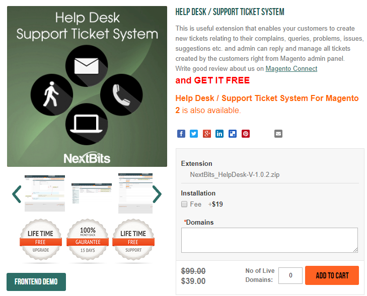 magento 2 help desk / support ticket system
